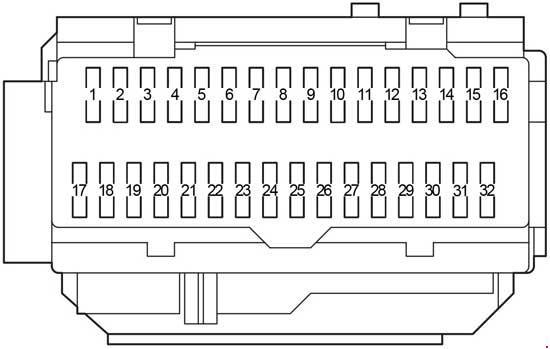 Схема предохранителей и реле Toyota Camry XV40 (2006-2011)
