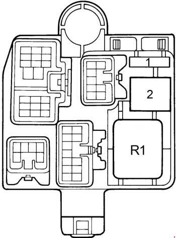 Схема предохранителей и реле Lexus ES 300 (1991-1996)