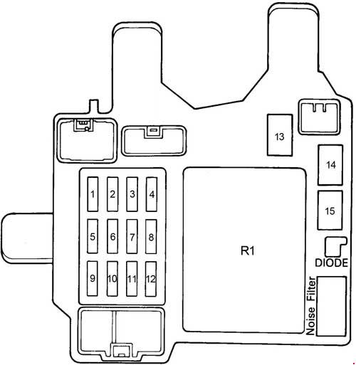 [DIAGRAM_34OR]  91-'96 Toyota Camry (XV10) Fuse Diagram | Fuse Box 1996 Toyota Camry |  | knigaproavto.ru