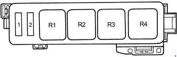 Схема предохранителей и реле Toyota Camry XV10 (1991-1996)