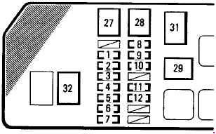 1995-1997 Toyota Tacoma Fuse Box Diagram
