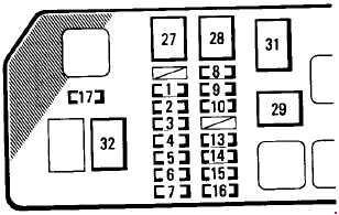 95-'97 Toyota Tacoma Fuse Box Diagramknigaproavto.ru