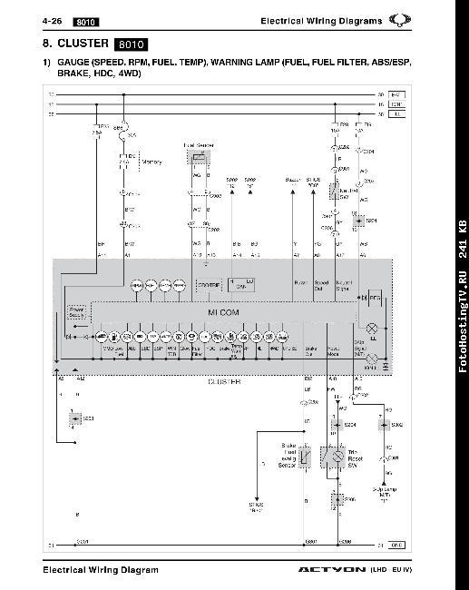 Электрическая схема Ssang