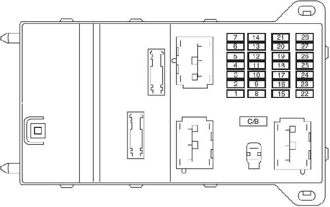2006-2009 Mercury Milan Fuse Box Diagram
