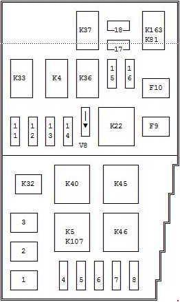 1992-1996 ford mondeo mk1 fuse box diagram