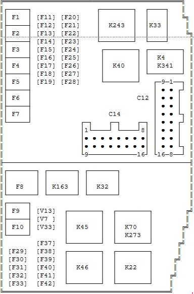 ford focus mk1 fuse box diagram 2000-2007 ford mondeo mk3 fuse box diagram » fuse diagram