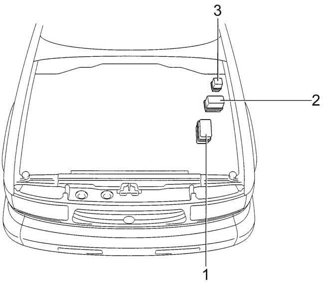 1990-1997 Toyota Land Cruiser 80 Fuse Box Diagram