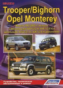 Схема предохранителей и реле Opel Monterey и Isuzu Trooper