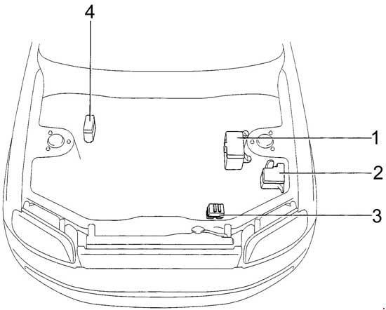 1994-1997 Toyota RAV4 (SXA1) Fuse Box Diagram