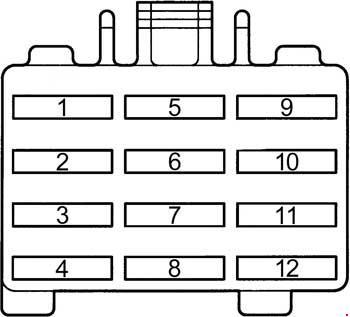 1994-1997 Toyota RAV4 Fuse Diagram  knigaproavto.ru