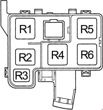 1994-1997 Toyota RAV4 Fuse Diagram