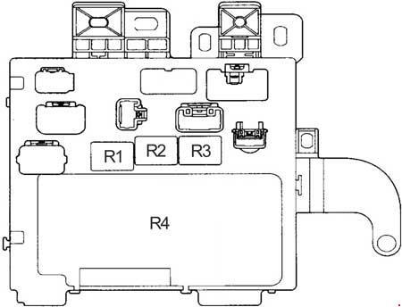 1996 2001 Toyota Camry Xv20 Fuse Box Diagram Fuse Diagram