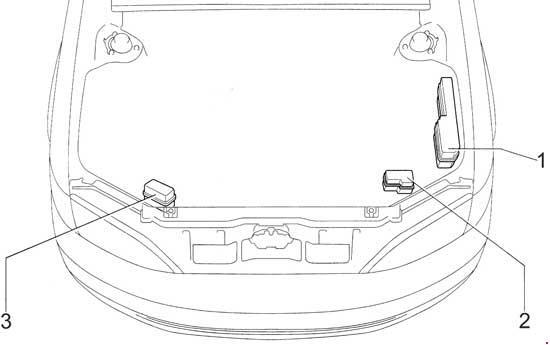 Схема предохранителей и реле Lexus ES 300 (1996-2001)