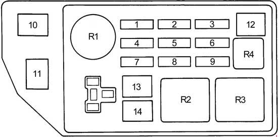 1998 toyota camry engine fuse box diagram