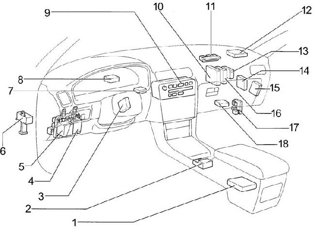 92 Lexus Es300 Fuse Box Diagram