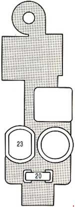 Схема предохранителей и реле Lexus ES 250 (VZV21; 1989-1991)