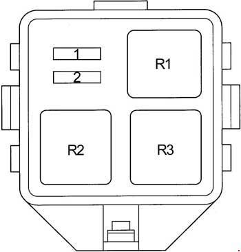 Схема предохранителей и реле Toyota Yaris Verso и Echo Verso