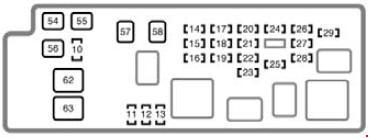 2004-2006 toyota tundra double cab fuse box diagram
