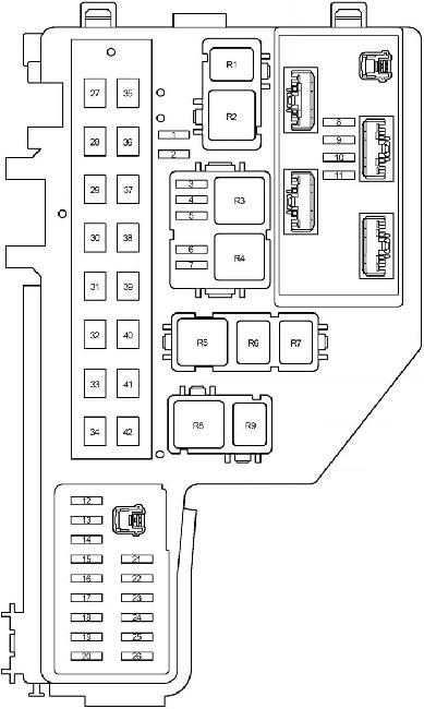 03-'09 toyota prius (xw20) fuse diagram  knigaproavto.ru