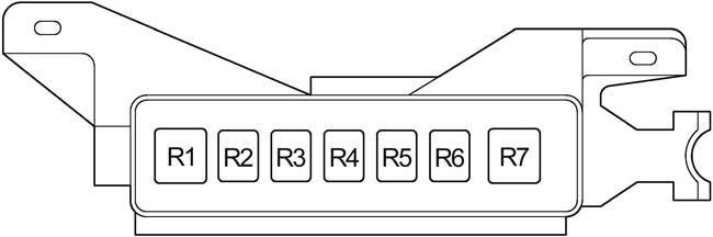 Схема предохранителей и реле Toyota Prius (2003-2009)