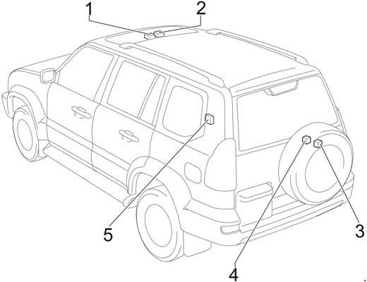 Схема предохранителей и реле Toyota Land Cruiser Prado 120 / 125 (2002-2009)