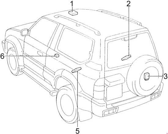 1996 2002 Toyota Land Cruiser Prado J90 Fuse Box Diagram