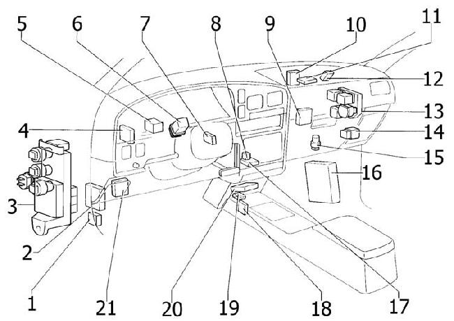 1989 1995 Toyota 4runner Fuse Box Diagram Fuse Diagram - Wiring Diagram