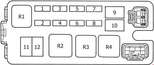 1997 toyota 4runner fuse box diagram