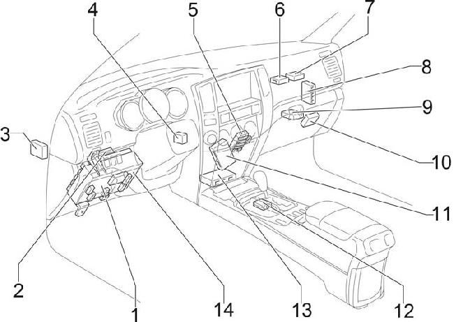 2002 2009 Toyota 4runner Fuse Box Diagram Fuse Diagram - Wiring Diagram