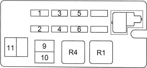 1989-1995 toyota 4runner fuse box diagram
