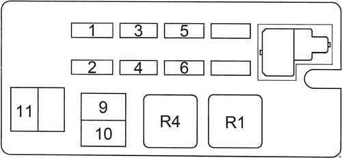 Схема предохранителей и реле Toyota 4Runner (1989-1995)