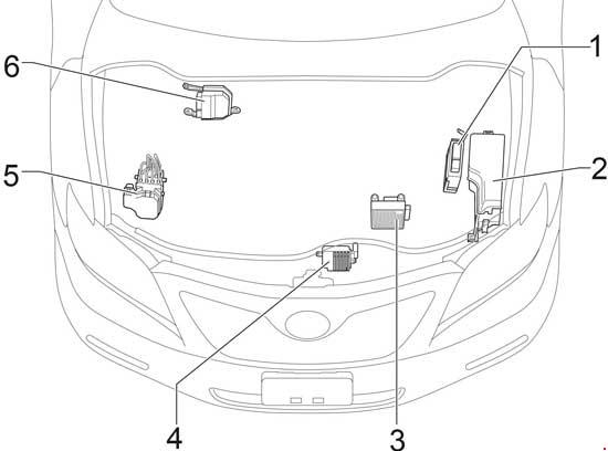 [SCHEMATICS_4JK]  07-'11 Toyota Camry (XV40) Fuse Diagram | 2007 Toyota Camry Fuse Box Location |  | knigaproavto.ru