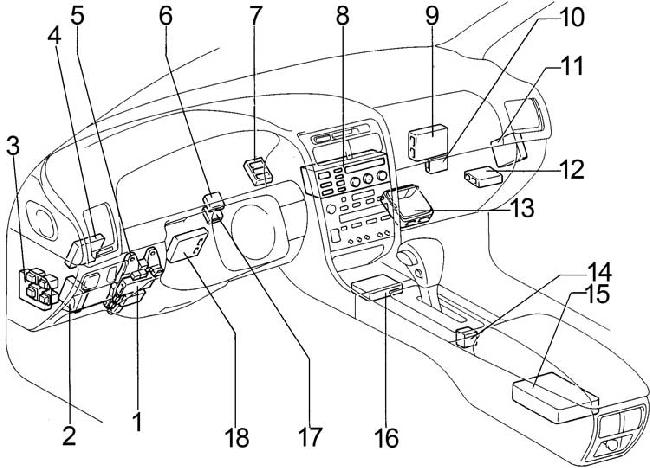 1991-1997 Lexus GS 300 (S140) Fuse Box Diagram