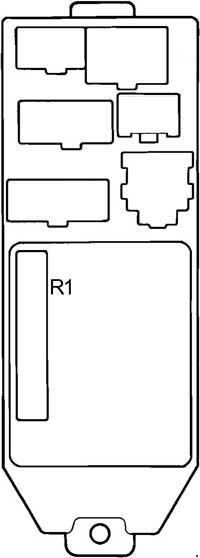 1988-1992 toyota cressida (x80) fuse box diagram