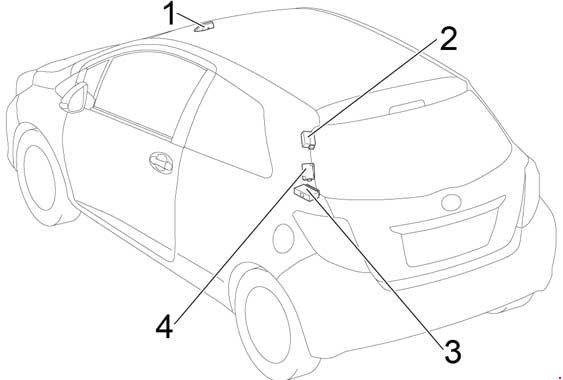 2010-2017 toyota yaris (130) fuse box diagram
