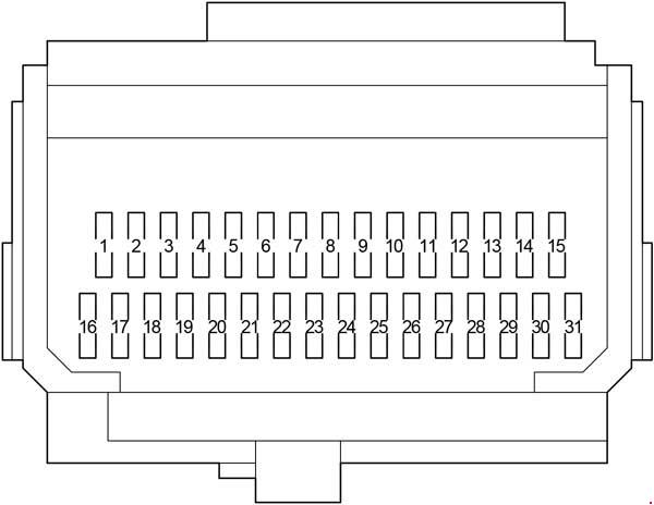 2006-2013 toyota corolla (e150) fuse box diagram