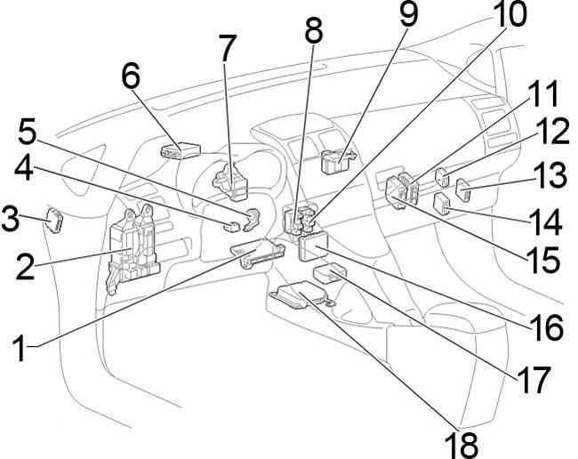 2006-2012 Toyota Auris (150) Fuse Box Diagram