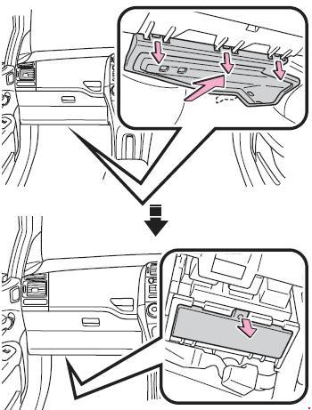2006-2013 toyota corolla (e150) fuse box diagram