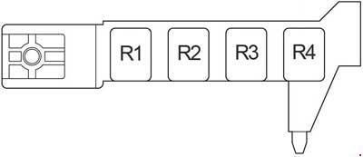 Схема предохранителей и реле Toyota Avensis (2003-2009)