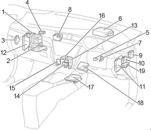 toyota runner fuse box diagram auto wiring  toyota  auto