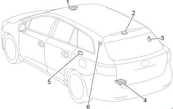 2009 2017 Toyota Avensis T270 Fuse Box Diagram Fuse Diagram