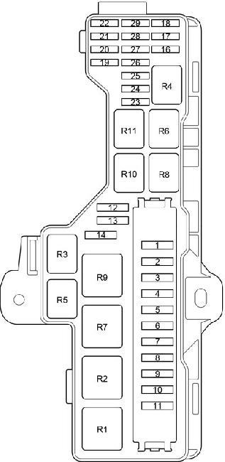 Схема предохранителей и реле Toyota HiAce (2013-2018)