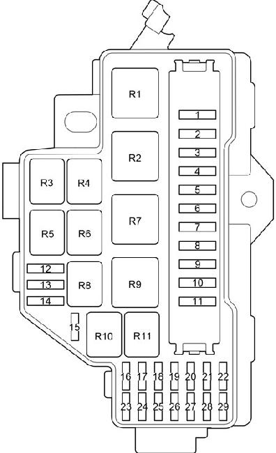 toyota fuse box diagram hiace