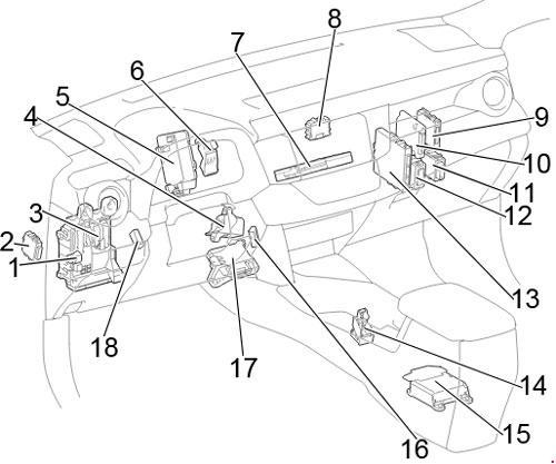12-'18 Toyota RAV4 (XA40) Fuse Diagram | 2014 Rav4 Fuse Box Diagram |  | knigaproavto.ru