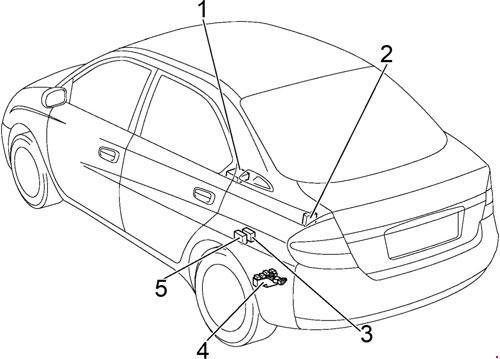 Схема предохранителей и реле Toyota Prius 11 (2000-2003)
