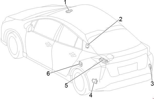 Схема предохранителей и реле Toyota Prius 50 (2015-2018)