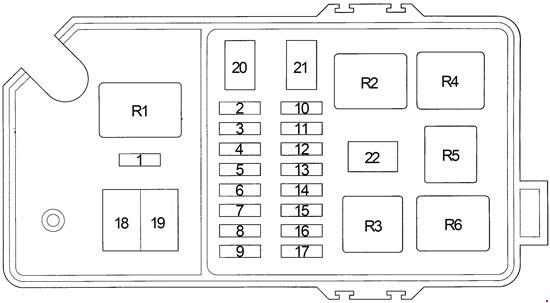 1996-2002 toyota 4runner fuse box diagram