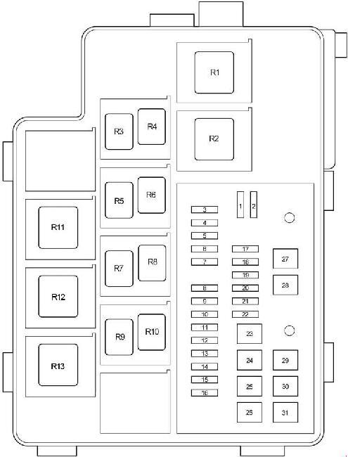06-'12 toyota rav4 fuse diagram  knigaproavto.ru