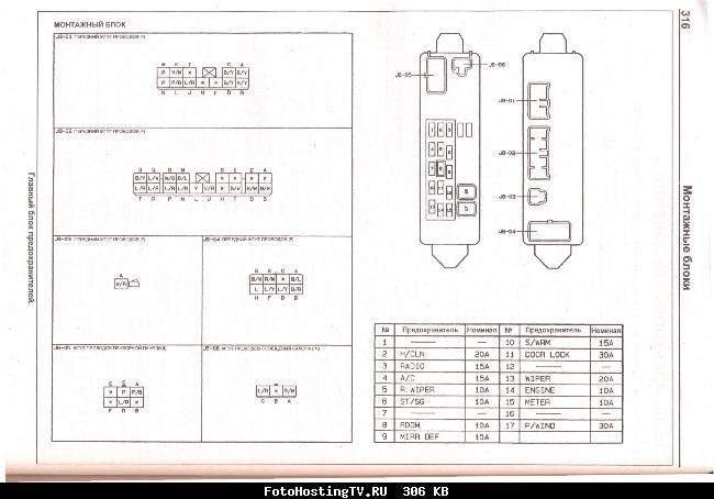 Схемы электрооборудования MAZDA 626 / CAPELLA 1997-2002