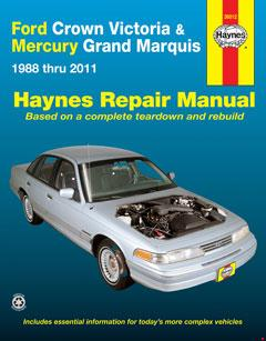 Ford Crown Victoria & Mercury Grand Marquis (88-11) (Covers all fuel-injected models) Haynes Repair Manual